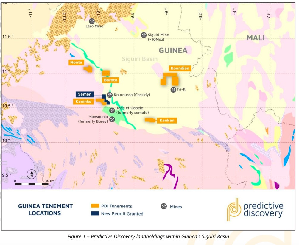 ASX PDI - Predictive Discovery Gold Projects