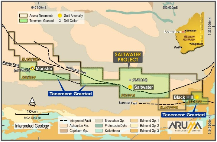 Aruma Resources Saltwater Gold Project - ASX AAJ