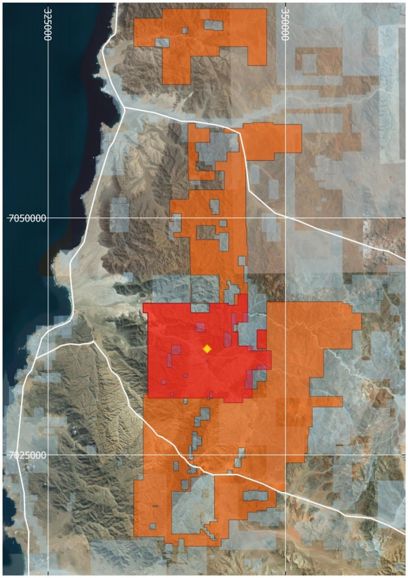 Tesoro Resources Land Area Map - Gold Project ASX TSO