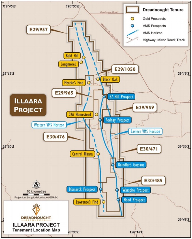 ASX DRE - Dreadnought Resources Illaara Gold Project Tenements